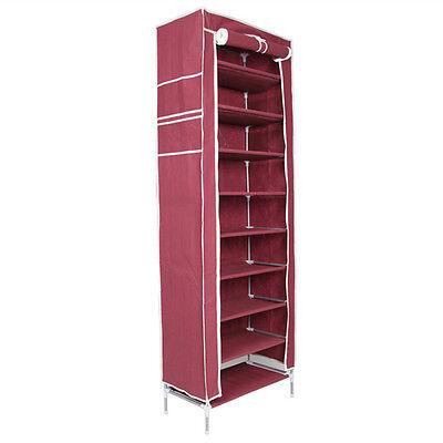 10 Tier 30/50 Pair Space Saving Storage Organizer Free Standing Shoe Tower Rack!