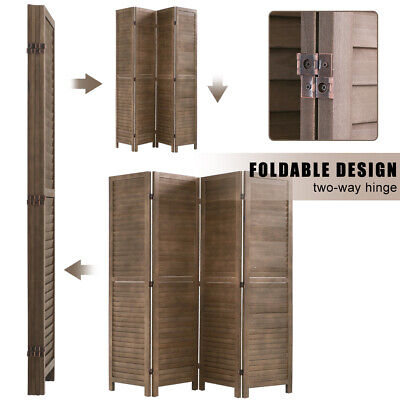 Panel Wood Room Divider Privacy Wall Divider  Brown Furniture