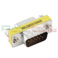 Adattatore VGA maschio 15 poli connettore cavo spina per scheda video  monitor pc f635625e6e37
