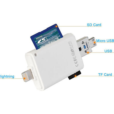New 3 in 1 TF SD Card Reader Adapter for iPhone ipad MAC PC