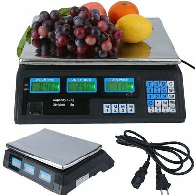 Meat Food Price Computing Retail Digital Scale 40kg Fruit Produce Counting Bp