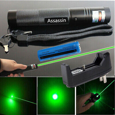 900miles Green Laser Pointer Pen 532nm Rechargeable 1mw Lazer Torchbattcharger