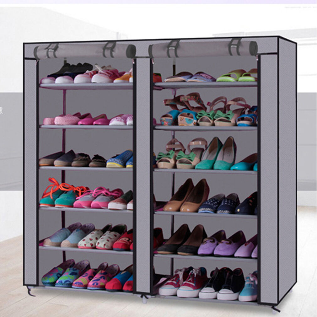 Rack Shoe Organizer Storage Shelf Closet Tier Cabinet Tower Shelves Home 50  Pair