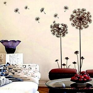 Creative Dandelion Wall Decal Sticker Removable Mural PVC Home Art Decor UR