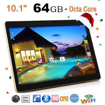 Nuevo 10.1'' Tablet Pc Android 6.0 Octa Core 4G + 64G HD Wifi Dual Camera