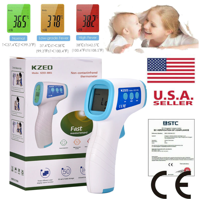 Non-Contact Infrared Digital Forehead Thermometer for Baby and Adult Temperature