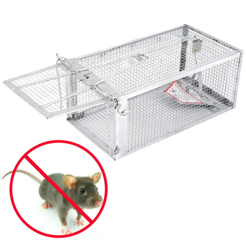 """OxGord Live Animal Trap 24"""" X 7"""" X 7"""" Catch Release Humane Rodent Cage for Rabbits, Stray Cat, Squirrel, Raccoon, Mole, Gopher, Opossum, Skunk & Chipmunks Steel Outdoor Professional Grade"""
