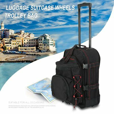 Man Large Capacity Shoulder Bag Luggage Suitcase Wheel Trolley Backpack (Backpack Luggage Trolley Bag)