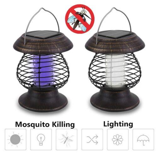 2 Pack Led Solar Garden Bug Zapper Mosquito Killer Lamp UV L