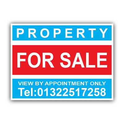 Property For Sale Sign Boards Personalised Correx Estate Agent Signs x2 45