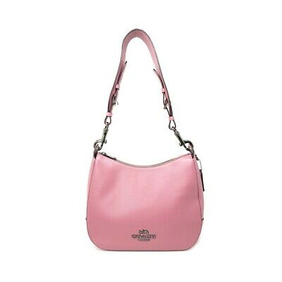 NWT COACH Jes Hobo Shoulder Bag Strap Clip Classic Leather Pink Rose F72702 Classic Hobo Bag