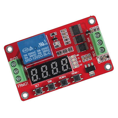 1 12v Dc Multifunction Self-lock Relay Plc Cycle Timer Module Delay Time Switch