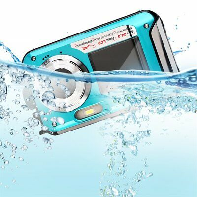 Digital Camera Waterproof 24MP MAX 1080P Double Screen16x Zoom Camcorder NEW MC