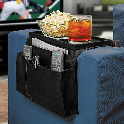 Sofa Couch Remote Control Holder Arm Rest Organizer Storage Tray Bag 6 PockeG7