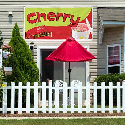 Vinyl Banner Sign Cherry Limeade Restaurant Cafe Bar Marketing Advertising Red