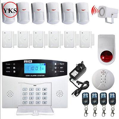 YKS Alarmanlage Funk Alarmsystem GSM SMS Bewegungsmelder Telefon Sicherheit Set