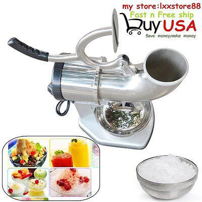 440lbs 250W Electric Ice Crusher Shaver Machine Snow Cone Maker Stainless Steel