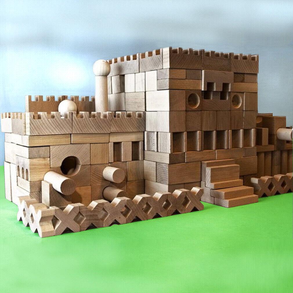 220 + 20 Stück XL Holzbausteine Bauklötze Holzklötze Holzspielzeug Bausteine