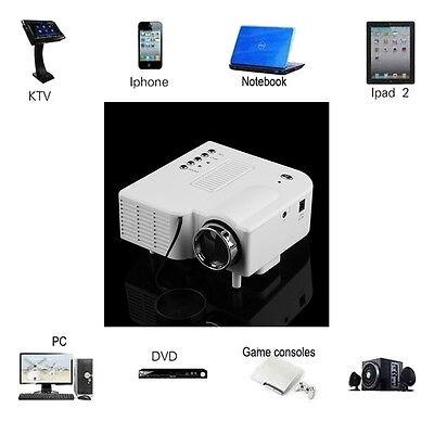 Mini HD 1080P LED Projector Home Cinema Theater Multimedia PC USB SD TV AV HDMI