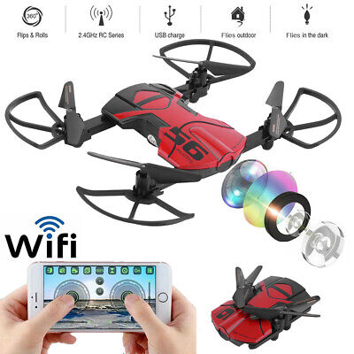 WIFI FPV RC Drone Quadcopter With HD Camera 6-Axis Foldable Altitude Hold Kit DE