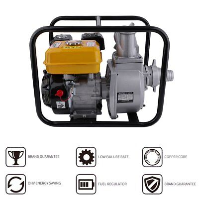 3 2 Gas Powered Water Pump Flood Irrigation Portable 7 Hp Transfer Minute Us
