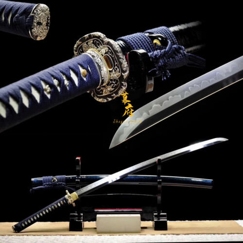 Top Katana Clay Tempered L6 Steel Handmade Japanese Sword Battle Ready Full Tang