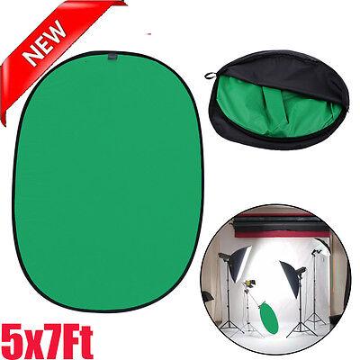 Lightweight Reversible Popup Green Black Screen Background Panel 5x7ft New US