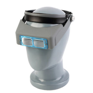 New Hot Optivisor Head Magnifier Watch Repair Eye Magnifying Glass URJV