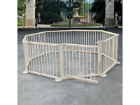 Playpen, wooden 8 panel frame, barely used.