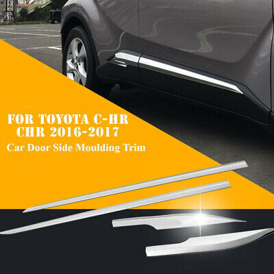 For Toyota C-HR CHR 2016 2017 Car Side Door Body Trim ABS Chrome Accessories JD Tore Trim
