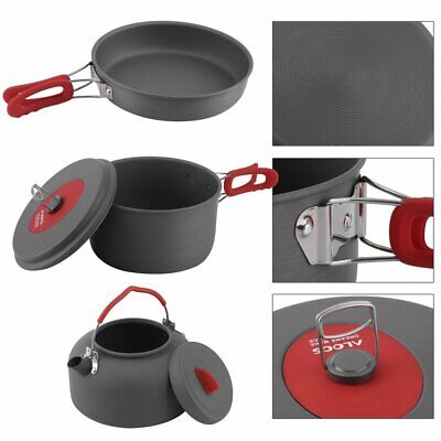 Durable Outdoor Camping Pan Hiking Cookware Backpacking Cooking Picnic Bowl Pot