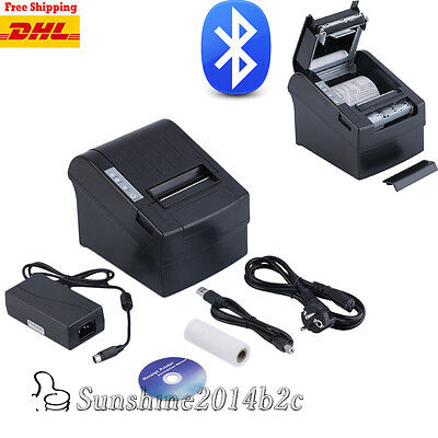 80mm Bluetooth Wlan Thermodrucker POS Bondrucker Kassendrucker AUTO-CUT 250mm/s