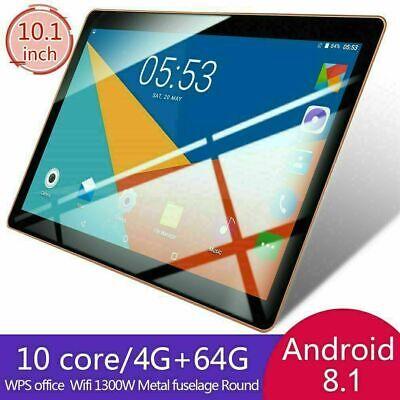 10.1'' Nero Tablet Android 8.1 Bluetooth PC 4+64GB ROM 2 SIM GPS WIFI Pad phone