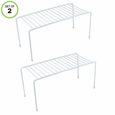 Evelots Kitchen Cabinet/Counter Shelf-Organizer-Double Space-Sturdy Metal-Set/2