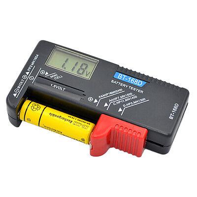 Universal Digital LCD Battery Checker Volt Tester Cell AA/AAA C/D 9V/1.5VButton@