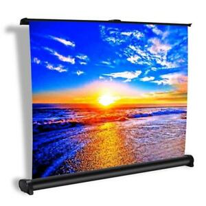 New Projector Screen, Auledio Portable Manual Pull Down 50 Inch 16:9 Movie Projection Screens for Home Cinema, Office, O