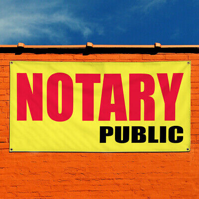 Vinyl Banner Sign Notary Public Promotion Business Marketing Advertising Yellow