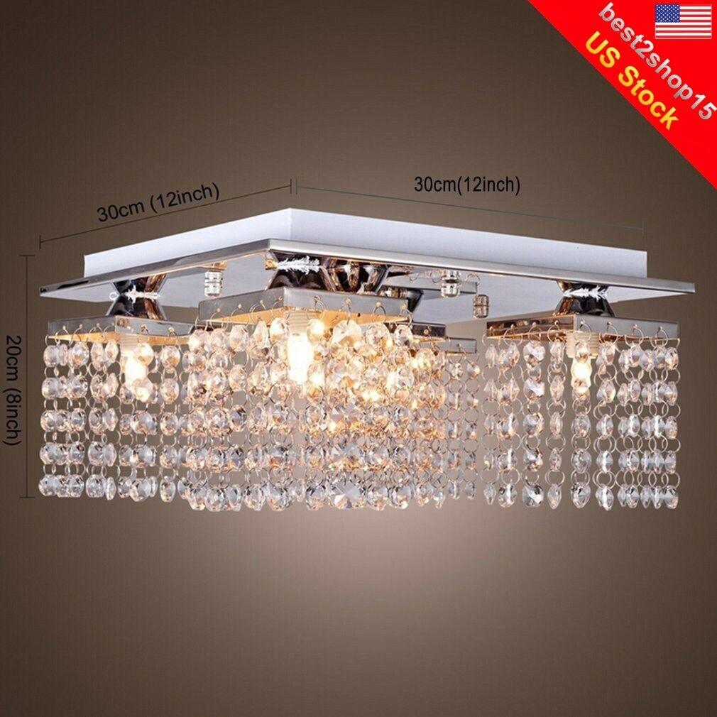 Modern Crystal Chandelier 5 Ceiling Light Lamp Pendant Fixtu