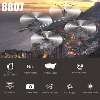 8807 Mini Wifi RC Quadcopter With 0.3MP Camera Foldable 6-Axle Drone Toy