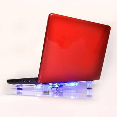 """10""""-15"""" Laptop Cooling Pad Blue LED Notebook 3 Fan USB Cooler Stand Tray"""