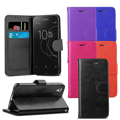 For Sony Xperia L1 G3311 G3312 Case - Leather Wallet Flip Case Cover + Protector