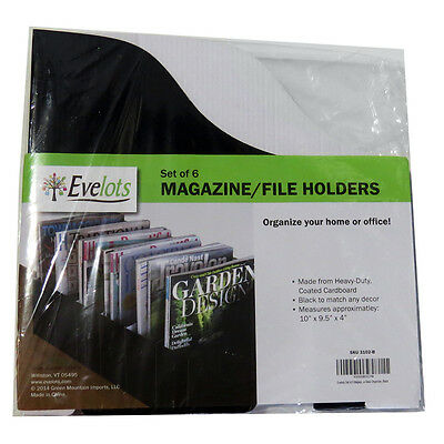 Set Of 6 Magazinefile Holders From Evelots