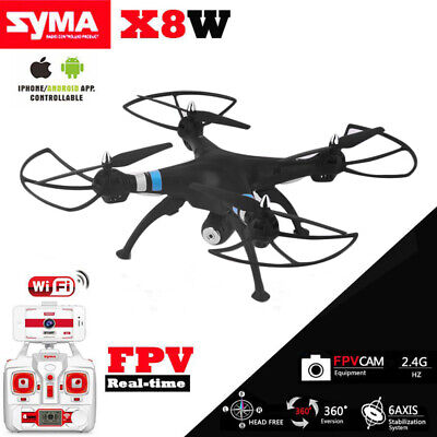 Syma X8W 2.4Ghz 4CH RC Headless FPV (Real Time) Quadcopter w/ Wifi Camera NEW WF