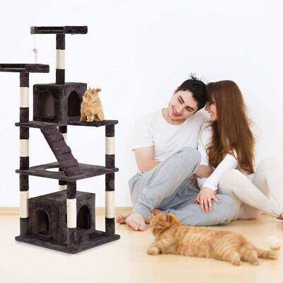 BestPet Cat Tree Tower Condo Multi-Level Kitten Plush Indoor Cat Playground 64″ Cat Supplies