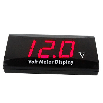 12v Digital Led Display Voltmeter Car Motorcycle Voltage Volt Gauge Panel Meter