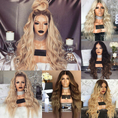 Kinky Curly Synthetic Ombre Hairstyle Blonde Hair For Women Full Wigs Long Wavy - Curly Blond Wig