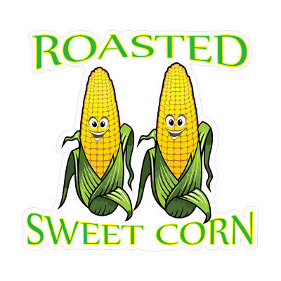 Food Truck Decals Roasted Sweet Corn Concession Die-cut Vinyl Sticker