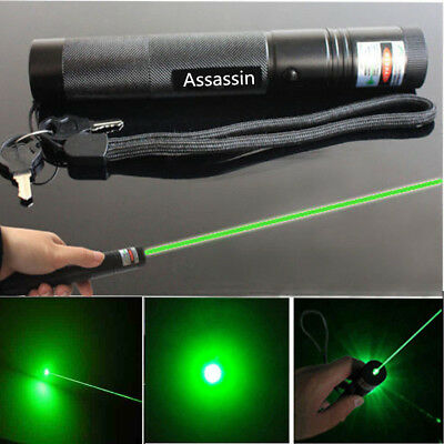 900Miles Green Laser Pointer Pen Visible Beam 18650 Torch Lazer Lamp Waterproof