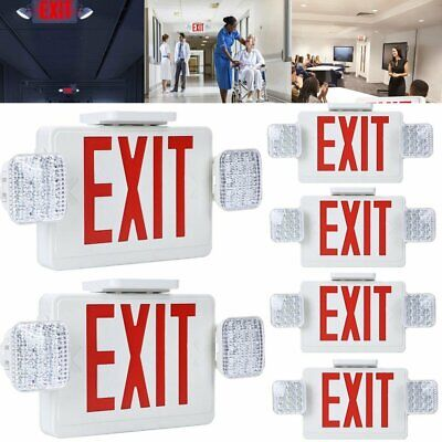 Lot 210pack Red All Led Exit Sign Emergency Light Square Head Combo Ul Combor2