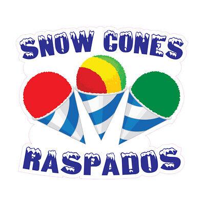 Snow Cones Raspados Concession Restaurant Food Truck Die-cut Vinyl Sticker
